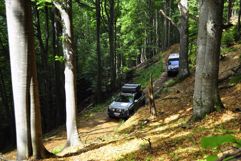 Expedition adventure offroad in Carpathians forests with 4Venture